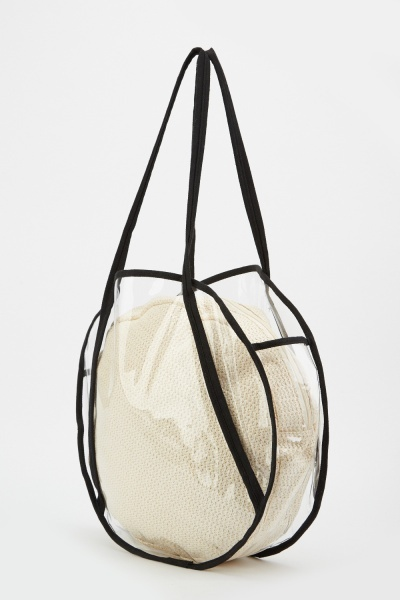 2 Piece Transparent Circle Bag
