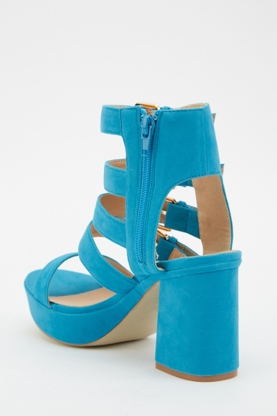 Suedette Multi Buckle Sandals