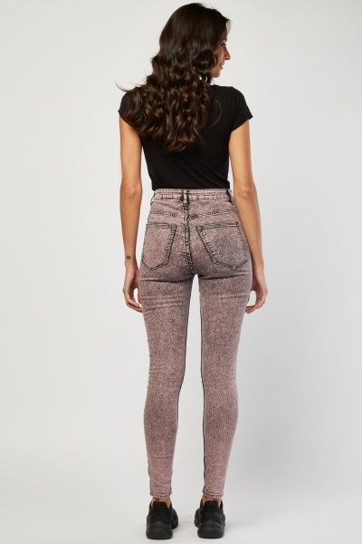 Faded Skinny Jeggings