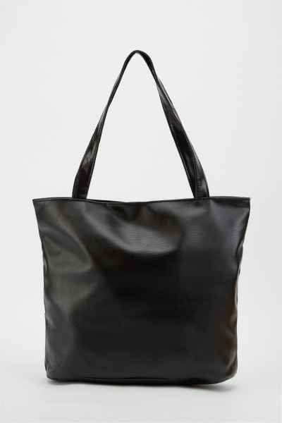 Mock-Croc Centre Panel Bag