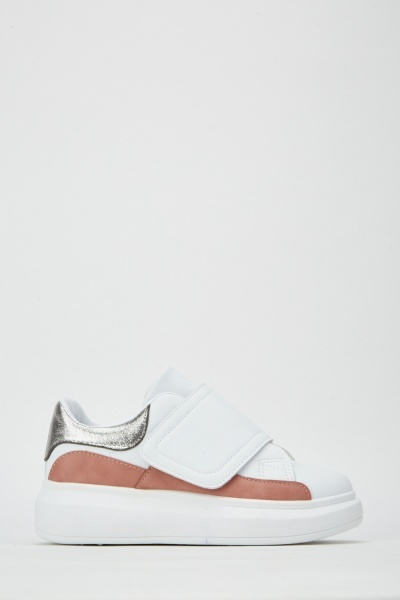 Stitched Trim Contrast Trainers