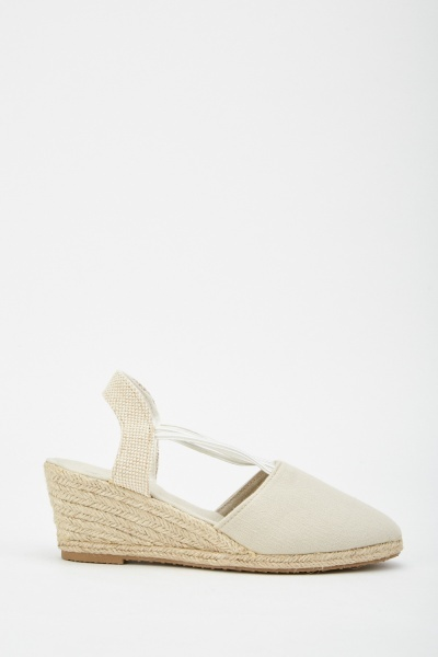 Contrasted Wedge Espadrilles