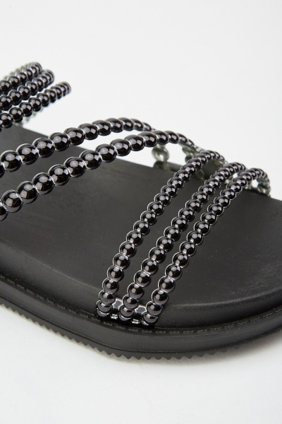 Faux Pearl Strap Sliders