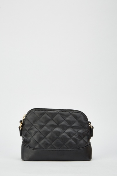 Quilted Faux Leather Shoulder Bag
