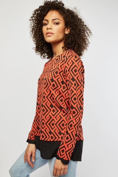 Aztec Patterned Top