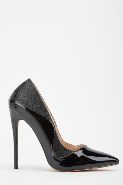 LOST INK Tia Man-Made Material Stiletto Black