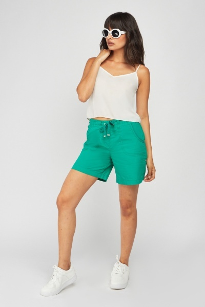 Casual Tie Up Waist Shorts
