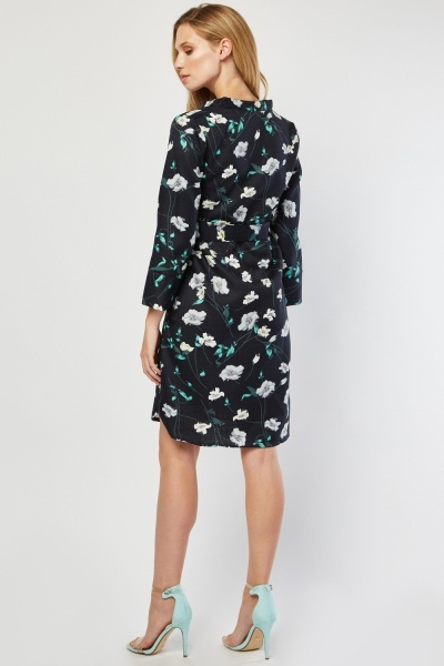 Lily Flower Print Tunic Dress