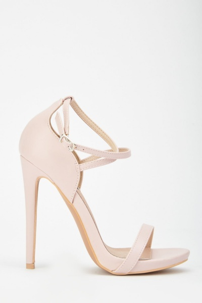 LOST INK Lucy x Strap Stiletto Sandal
