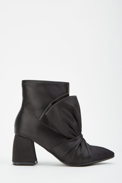 LOST INK Myra Bow Front Ankle Boot