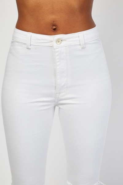 Ripped Knee Skinny Jeggings