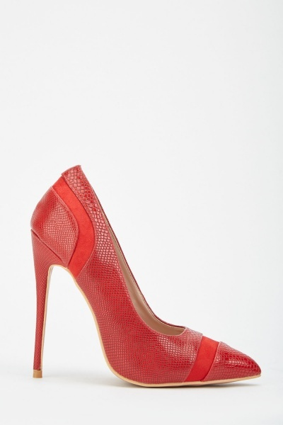 LOST INK Jett Textured Court Heels