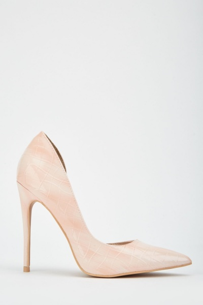 LOST INK Tove Textured D'Orsay Court Heels