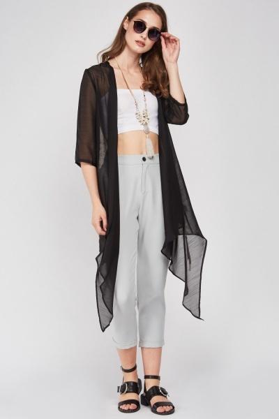 b10e5fe7a Floral Back Sheer Kimono - Black/Multi or Cream/Multi - Just £5