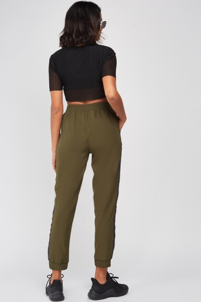 Stripe Side Straight Fit Trousers