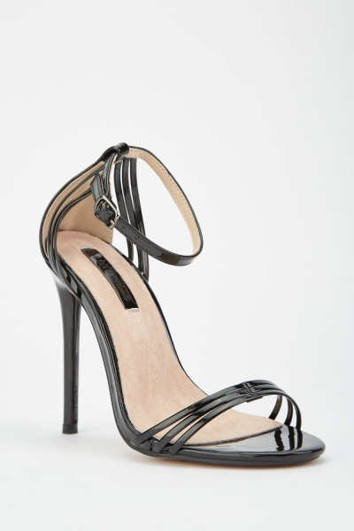 lost ink faye barely there heeled sandals