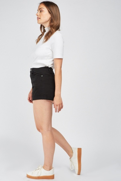 Casual Roll Up Hem Shorts