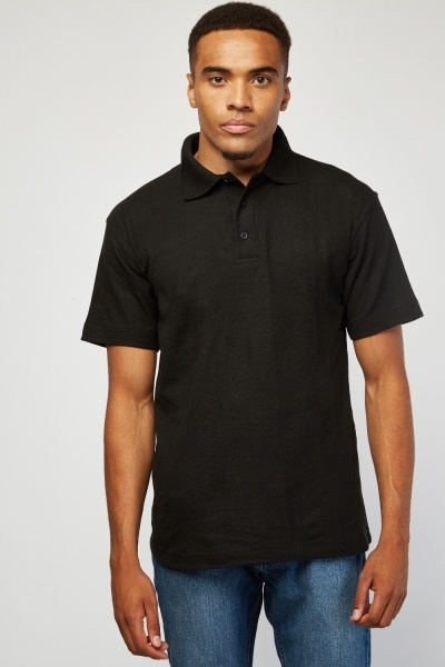 Pack Of 3 Black Polo-Shirts