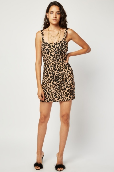 Animal Print Mini Bodycon Dress