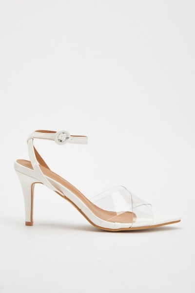 Criss Cross Transparent Strap Heels