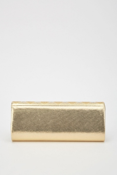 Encrusted Shimmery Metallic Clutch Bag