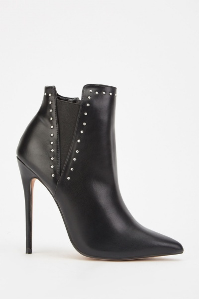 LOST INK Jada Stud Stiletto Boots