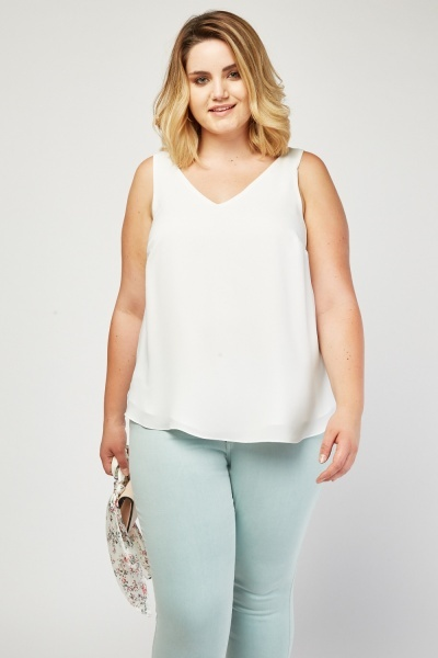 V-Neck Shell Top