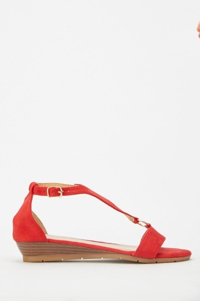 Wedge Low Sandals Sandals Triangle Triangle Strap Low Strap Wedge zjLMqSUVpG