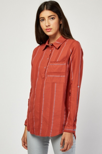 Single Pocket Front Shirt