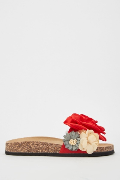 3D Flower Trim Cork Sliders