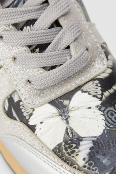 Butterfly Print Contrast Trainers