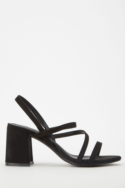 Strappy Block Heeled Sandals