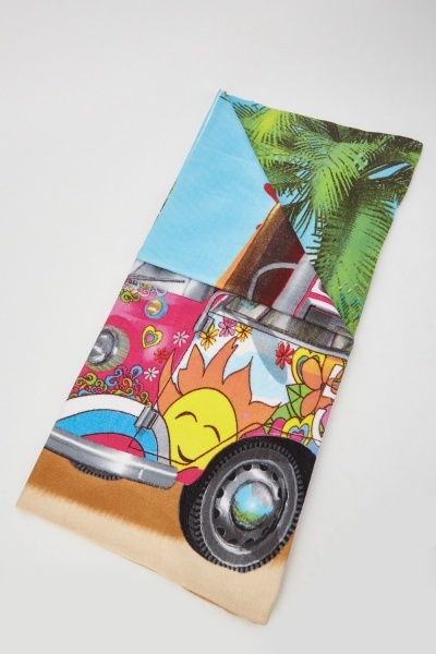 Holiday Caravan Printed Beach Towel