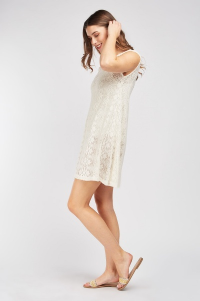 Loose Crochet Beach Dress
