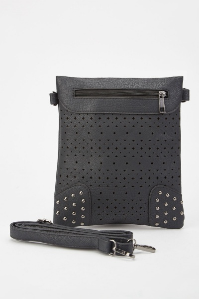 Textured Laser Cut Cross Body Bag