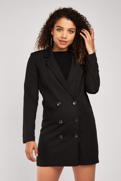 Double Breasted Long Line Blazer