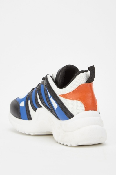 Colour Block Low Top Trainers