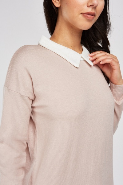 Collar Insert Knit Jumper