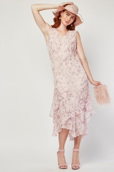 Floral Ditsy Print Ruffle Tier Dress