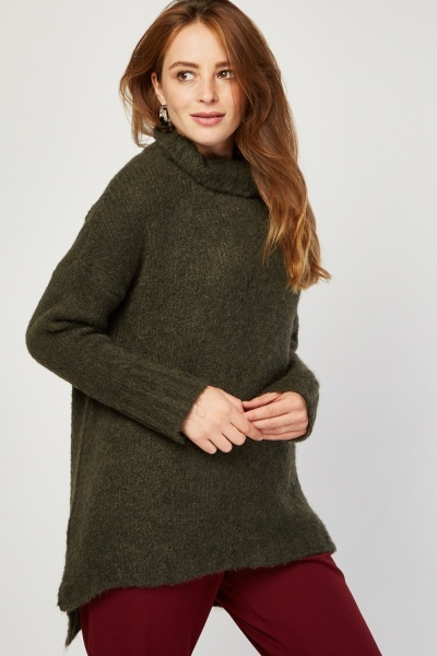 Chunky Knit High Neck Jumper