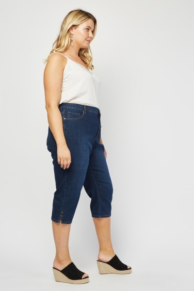All Around Slimming Effect Capri Jeans