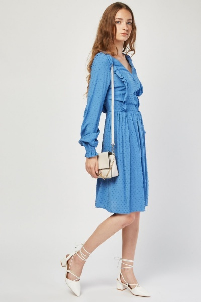 Frilly Bobble Textured Dress