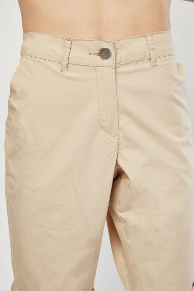 Rolled Hem Chino Shorts