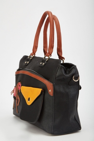 Cut Out Horse Applique Shoulder Bag