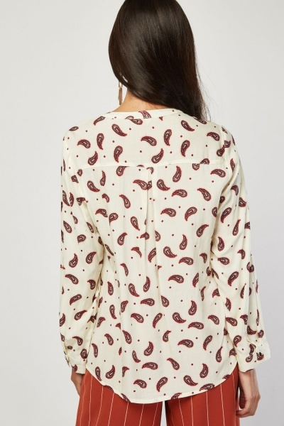 All Over Paisley Printed Blouse