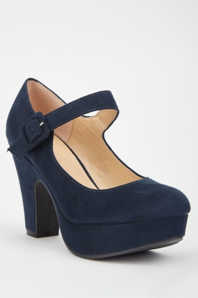 Buckle Strap Mary Jane Heels