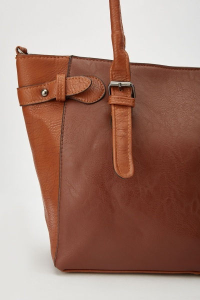 Contrasted Front Tote Bag