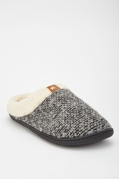 Fluffy Knitted Slippers