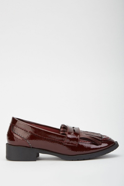 PVC Fringed Loafers