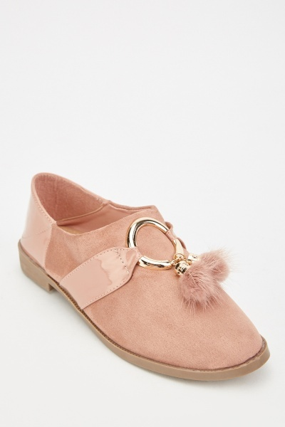 Suedette Tassel Loafers